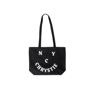 Chrystie Smile Logo Totebag - Black- Front - Off The Hook Montreal #color_black