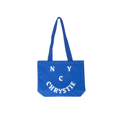 Chrystie Smile Logo Totebag - Blue - Front - Off The Hook Montreal #color_blue