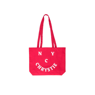Chrystie Smile Logo Totebag - Red - Front - Off The Hook Montreal #color_red