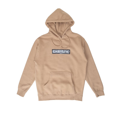 Chrystie Station Logo Hoodie - Sand - Front - Off The Hook Montreal