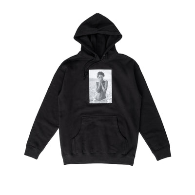 Chrystie Turlington Photo Hoodie - Black - Front - Off The Hook Montreal