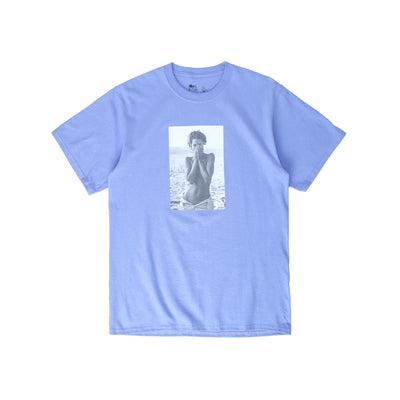 Chrystie Turlington Photo SS T-Shirt - Violet - Front - Off The Hook Montreal #color_violet