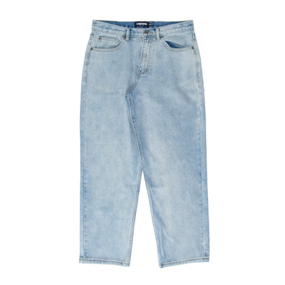 Chrystie Washed Denim Pants - Ice Blue - Front - Off The Hook Montreal