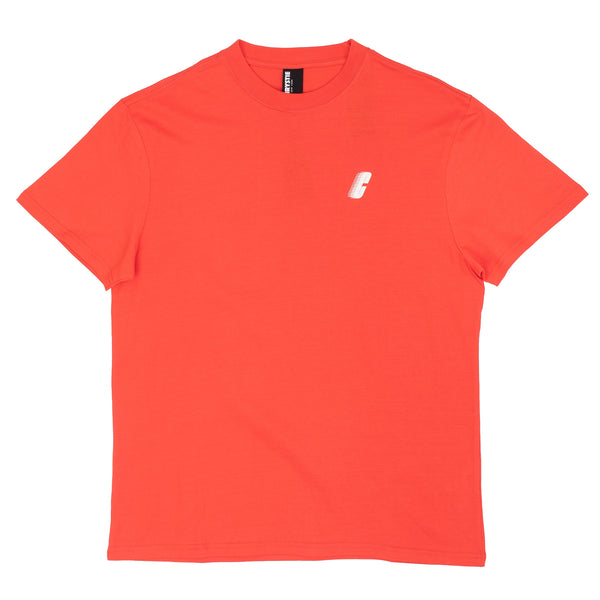 The Race C Logo Tee in salmon by Chrystie from Chrystie NYC comes in a cut and sew 170 GSM construction, with a silk screened logo on the left chest.