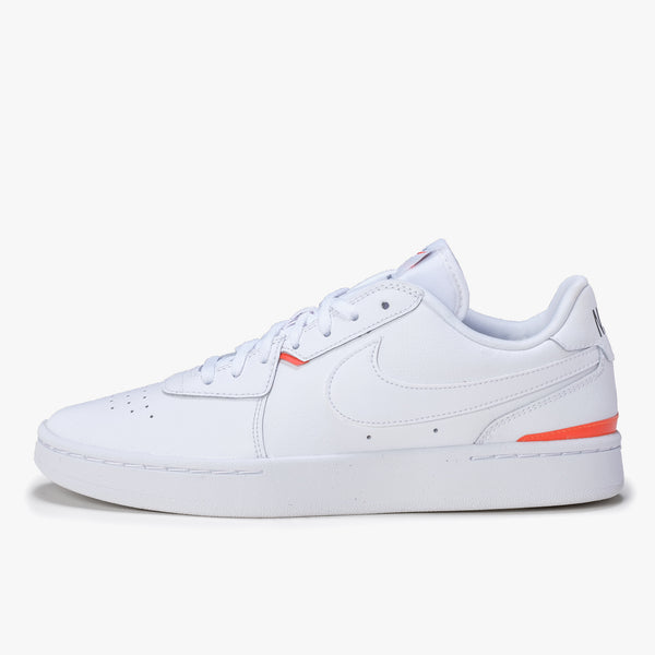 Nike Court Blanc W - White / Orange - Side - Off The Hook Montreal