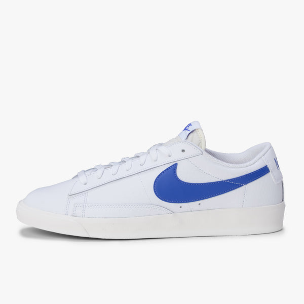 Nice Blazer Low Leather - White / Blue - Side - Off The Hook Montreal