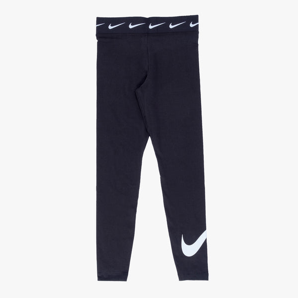 Nike Sportswear Club High Waisted Leggins - Black / White - Front - Off The Hook Montreal