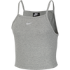 Nike CJ2224-063 Nike Sportswear Essential Tank Top Grey Heather/White - front - available at off the hook montreal