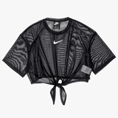 Nike Sportswear Short Sleeve Top - Black / White - Off The Hook Montreal