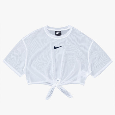 Nike Sportswear Short Sleeve Top - White / Black - Front - Off The Hook Montreal