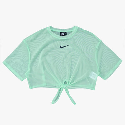 Nike Sportswear Short Sleeve Top - Cucumber / Black - Front - Off The Hook Montreal