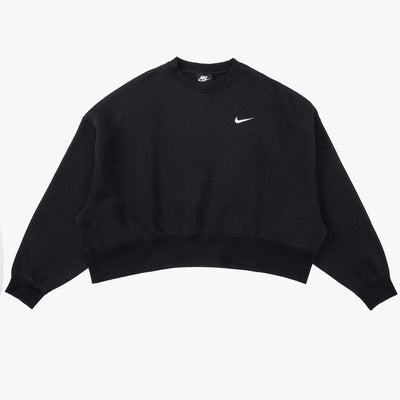 Nike Sportswear Essentials Crewneck - Black / White - Front - Off The Hook Montreal