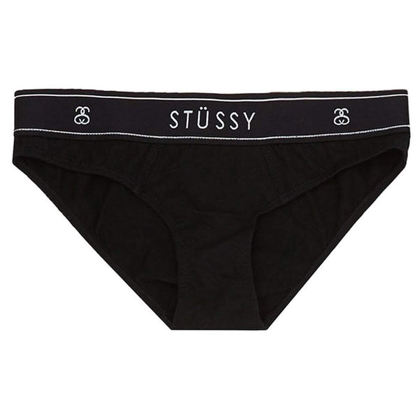 stussy womens brief briefs underwear black oth off the hook