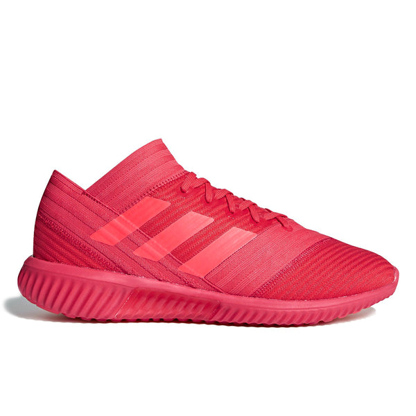 Inspired by soccer, the Nemeziz features a sock-like upper for a snug fit and a semi-transparent outsole for comfort and style.   Product code CP9116 red football running off the hook oth streetwear sneakers shoes boutique montreal canada