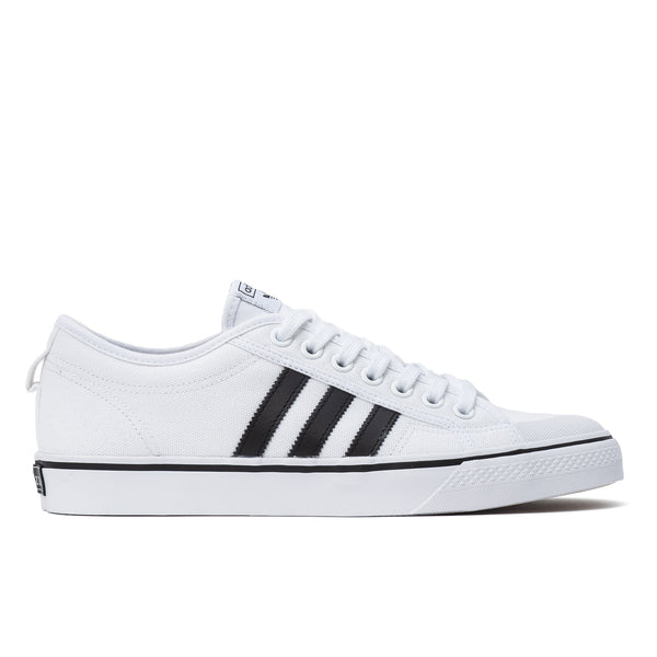 Adidas Nizza  - White / Black - Side - Off The Hook Montreal