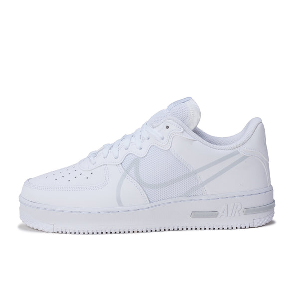 Nike Air Force 1 React - White / Platinum - Side - Off The Hook Montreal