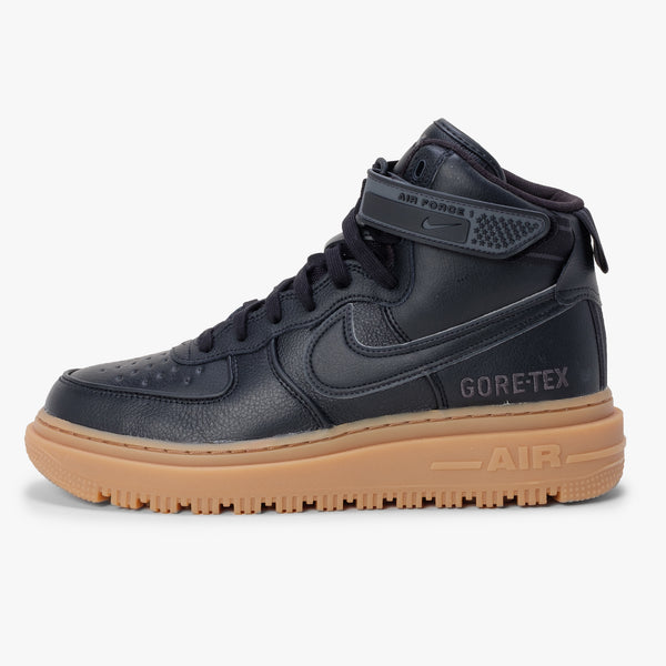 Nike Air Force 1 GTX Boot - Black / Anth / Brown - Side - Off The Hook Montreal