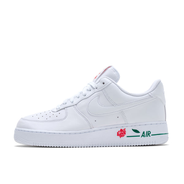 Nike Air Force 1 '07 LX  - White / University Red - Green - Side - Off The Hook Montreal