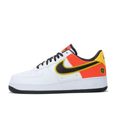 Nike Air Force 1 '07 LV8 - White / Black / Orange - Side - Off The Hook Montreal