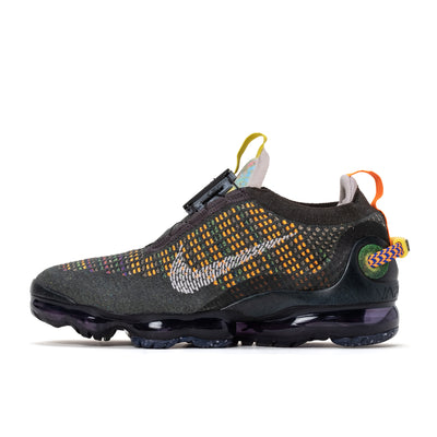 Nike Air Vapormax 2020 Flyknit - Newsprint / Gley-Black / Yellow - Side - Off The Hook Montreal #color_newsprint-grey-black-yellow
