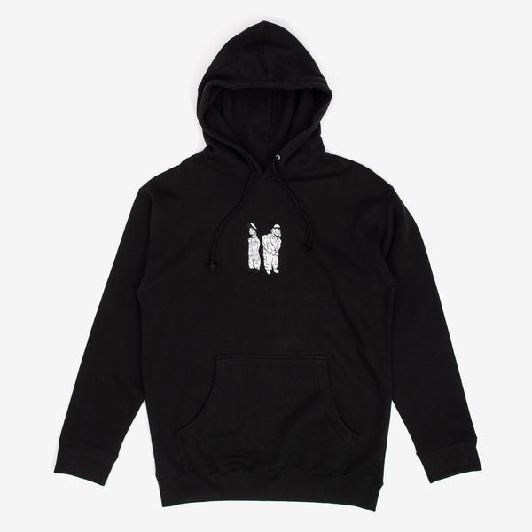 War Report Embroidered Hoodie Black