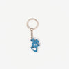 CWFG Bunny PVC Key Chain - Blue - Top - Off The Hook Montreal