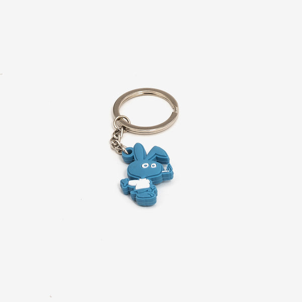 "The Cold Bunny PVC Key Chain in Blue turns Corld World Frozen Goods' Cold Bunny into a 1.25"" rubber keychain. It's a cold world out there, and it would be a lot colder if you lost your keys.  Product code: CWD4.KC01.BLU off the hook oth streetwear boutique canada montreal"