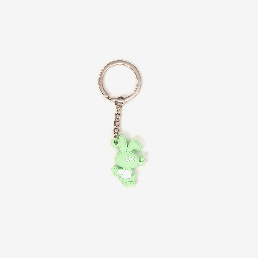 CWFG Bunny PVC Key Chain - Green - Front - Off The Hook Montreal