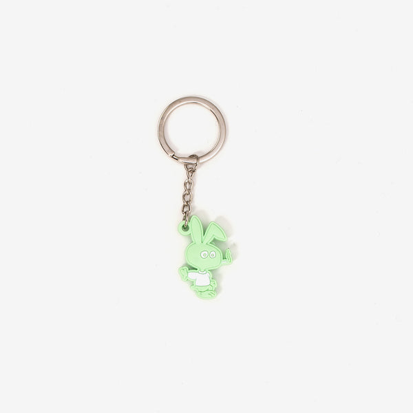"The Cold Bunny PVC Key Chain in Green turns Corld World Frozen Goods' Cold Bunny into a 1.25"" rubber keychain. It's a cold world out there, and it would be a lot colder if you lost your keys.  Product code: CWD4.KC01.GRN off the hook oth streetwear boutique canada montreal"