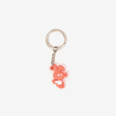 CWFG Bunny PVC Key Chain - Red - Front - Off The Hook Montreal