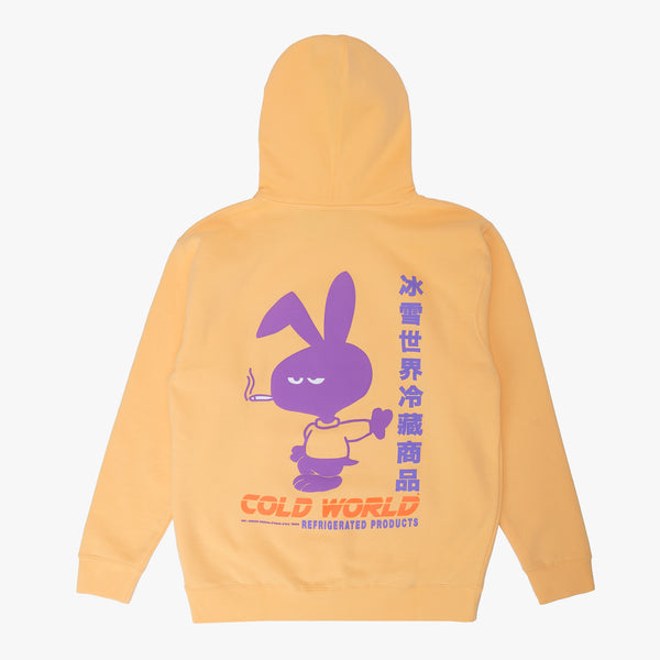 CWFG Mean Bunny Hoodie - Peach - Back - Off The Hook Montreal