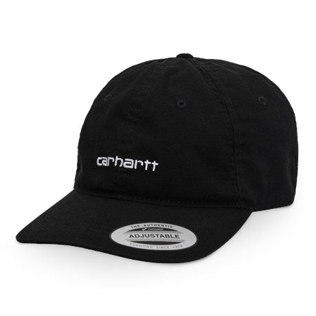 Canvas Coach Cap Black/White front available at off the hook montreal