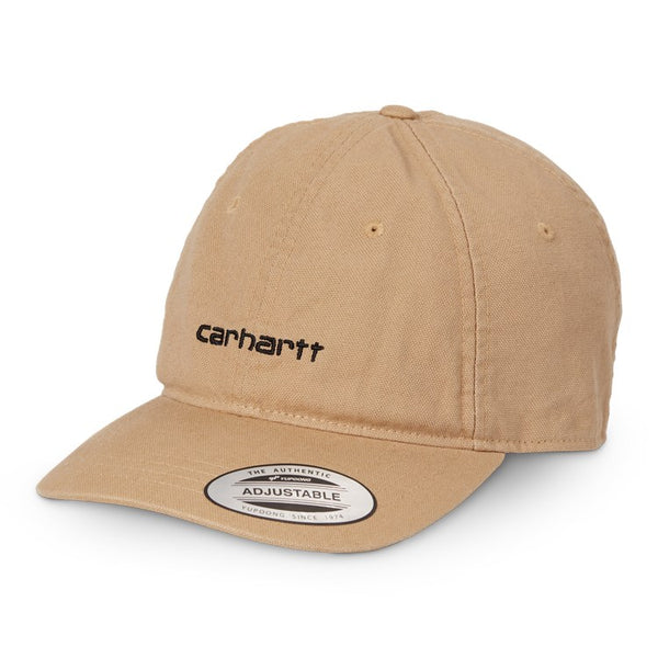 Carhartt WIP Canvas Coach Cap Brown/Black front available at off the hook montreal