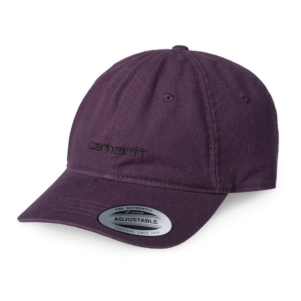 Carhartt I028165 Canvas Coach Cap Boysenberry/Black front available at off the hook montreal