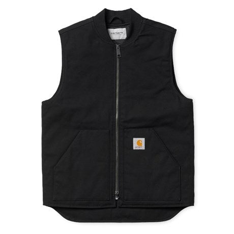 Carhartt WIP Vest Black front available at off the hook montreal