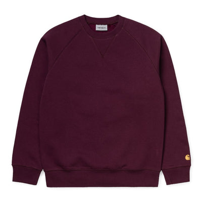I026383 Chase Sweatshirt - bordeaux - front  - available at off the hook montreal #color_bordeaux-gold