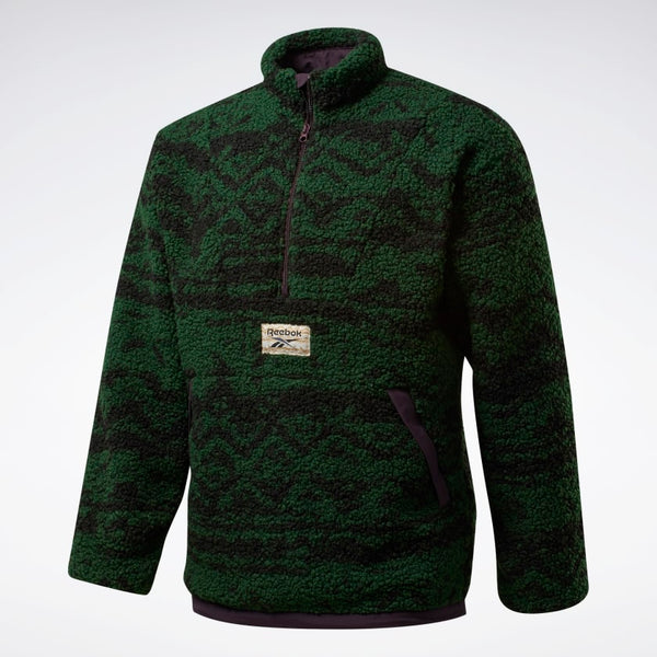 Reebok Classics Winter Escape Reversible Fleece - Green - Front - Off The Hook Montreal