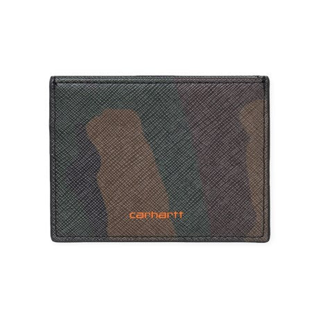 Carhartt Coated Card Holder CamoOrange front available at off the hook montreal
