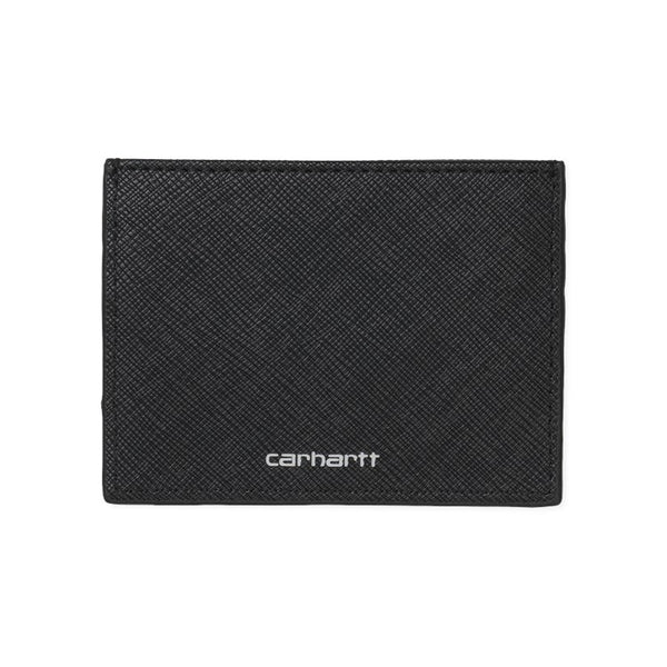 Carhartt I026209 Coated Card Holder Black/White front available at off the hook montreal