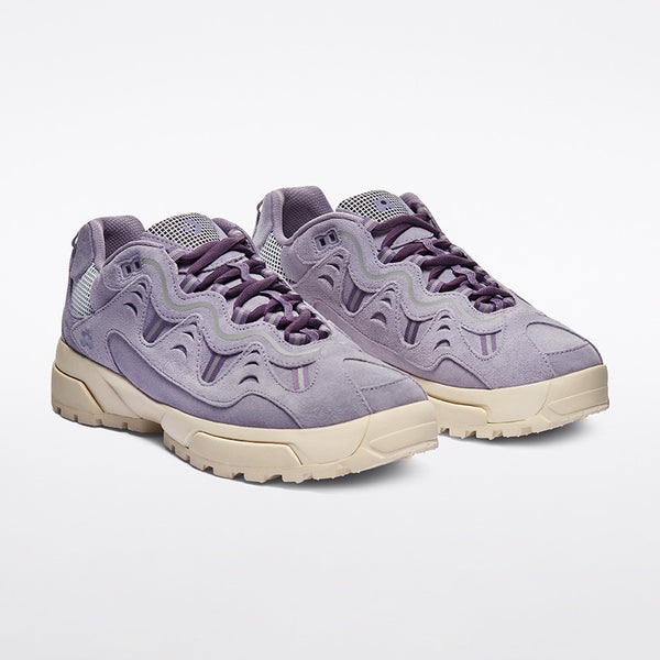 Converse x GOLF le FLEUR* Gianno Suede OX Lavender Gray front available at off the hook montreal