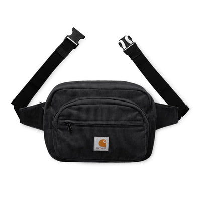 Carhartt WIP Cord Hip Bag Black front available at off the hook montreal