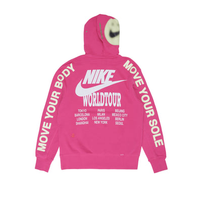 Nike Sportswear Essential French Terry Hoodie - Pink - Back - Off The Hook Montreal #color_fireberry