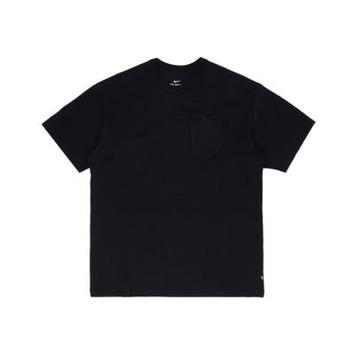 DB3249-100 NSW Essential Short Sleeve T-Shirt - black/black - front - available at off the hook montreal #color_black