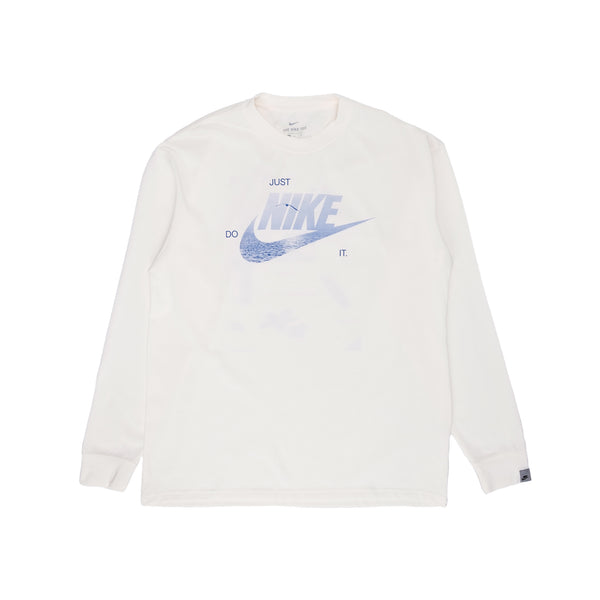 Nike M Sportswear L/S T-Shirt - Pure / Blue - Front - Off The Hook Montreal