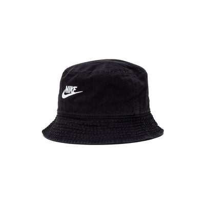 DC3967 Nike Sportswear Bucket Cap - front - available at off the hook montreal #color_black-white