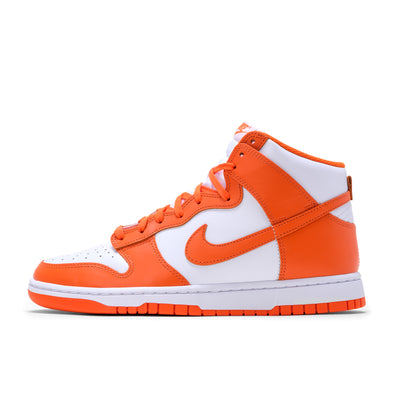 DD1399-101 Nike Dunk High Retro White/Orange Blaze - men's - side - available at off the hook montreal #color_orange blaze
