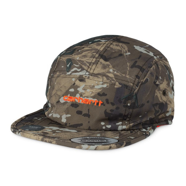 Carhartt I028164 Denby Cap Camo Combi/Orange front available at off the hook montreal