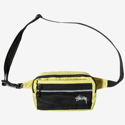 Stussy 134193 Diamond Ripstop Waist Bag Lime - front view - available at off the hook montreal