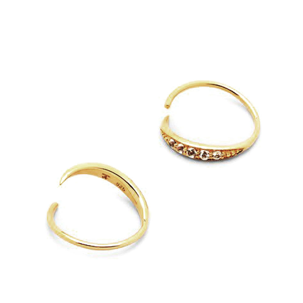 Mini Ear Loop Topaz Gold