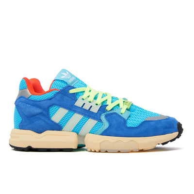 Adidas ZX Torsion - Bright Cyan / Linen Green / Blue - Side - Off The Hook Montreal